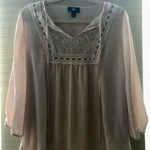 Light Pink Flowy Blouse